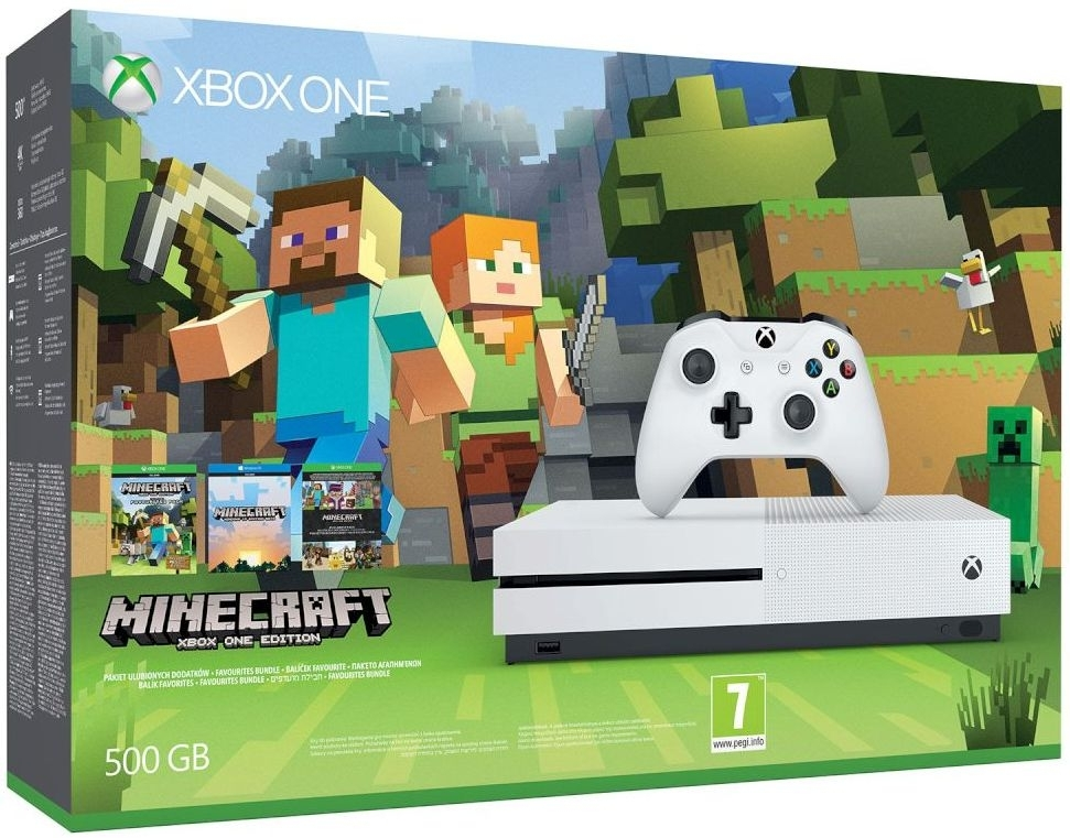 Konsola Xbox One S 500 GB Biała + Minecraft + EA Access
