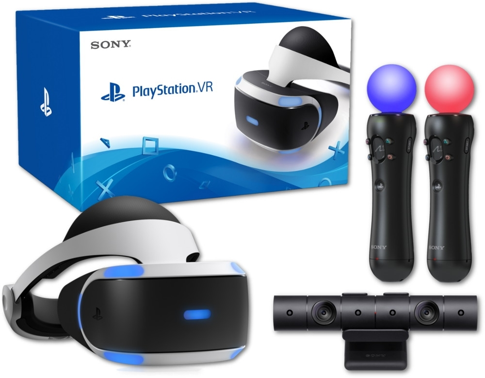 Sony PlayStation VR + Kamera PS4 V. 2 + 2 x Move Motion Controller (PSVR)