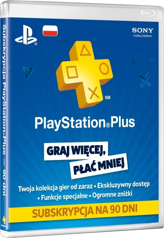 Karta Abonament Playstation Plus 90 dni