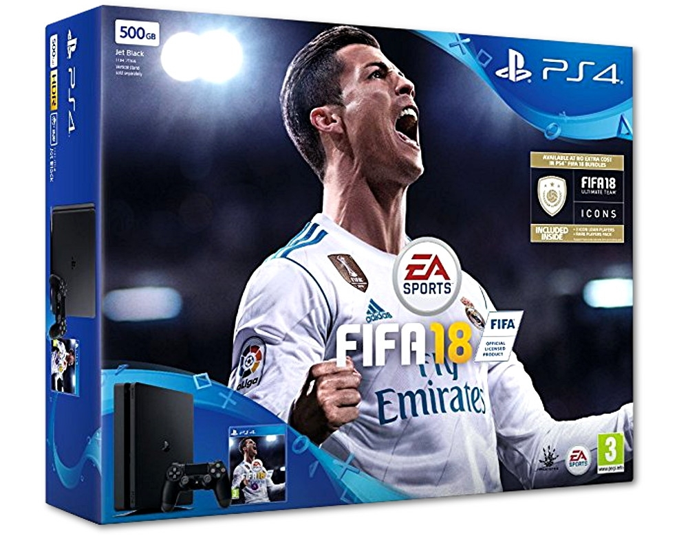 Konsola Sony PlayStation 4 Slim 500 GB + Fifa 18 PL (PS4)