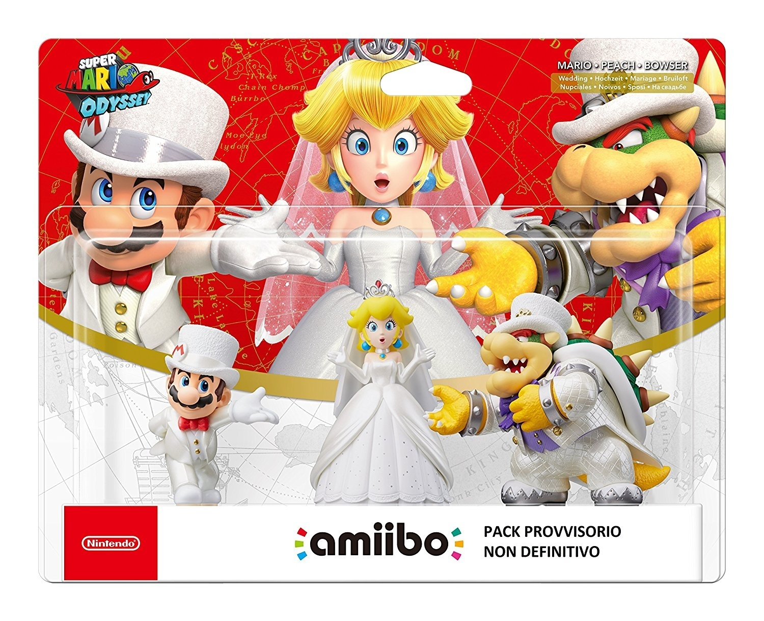 Figurka Amiibo Wedding Triple Pack Super Mario Odyssey  (WiiU, 3DS,2DS, Nintendo Switch)