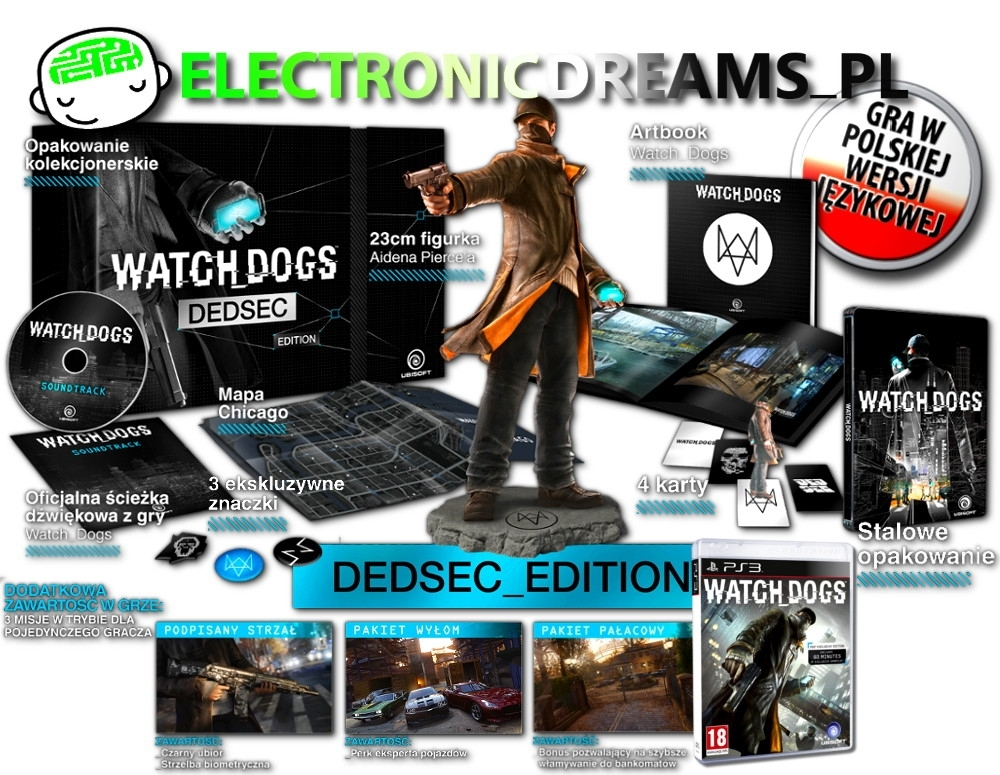 WatchDogs / Watch Dogs Dedsec Edition PL  (PS3)
