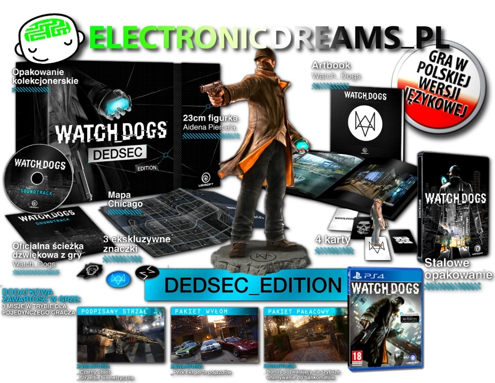 WatchDogs / Watch Dogs Dedsec Edition PL (PS4)