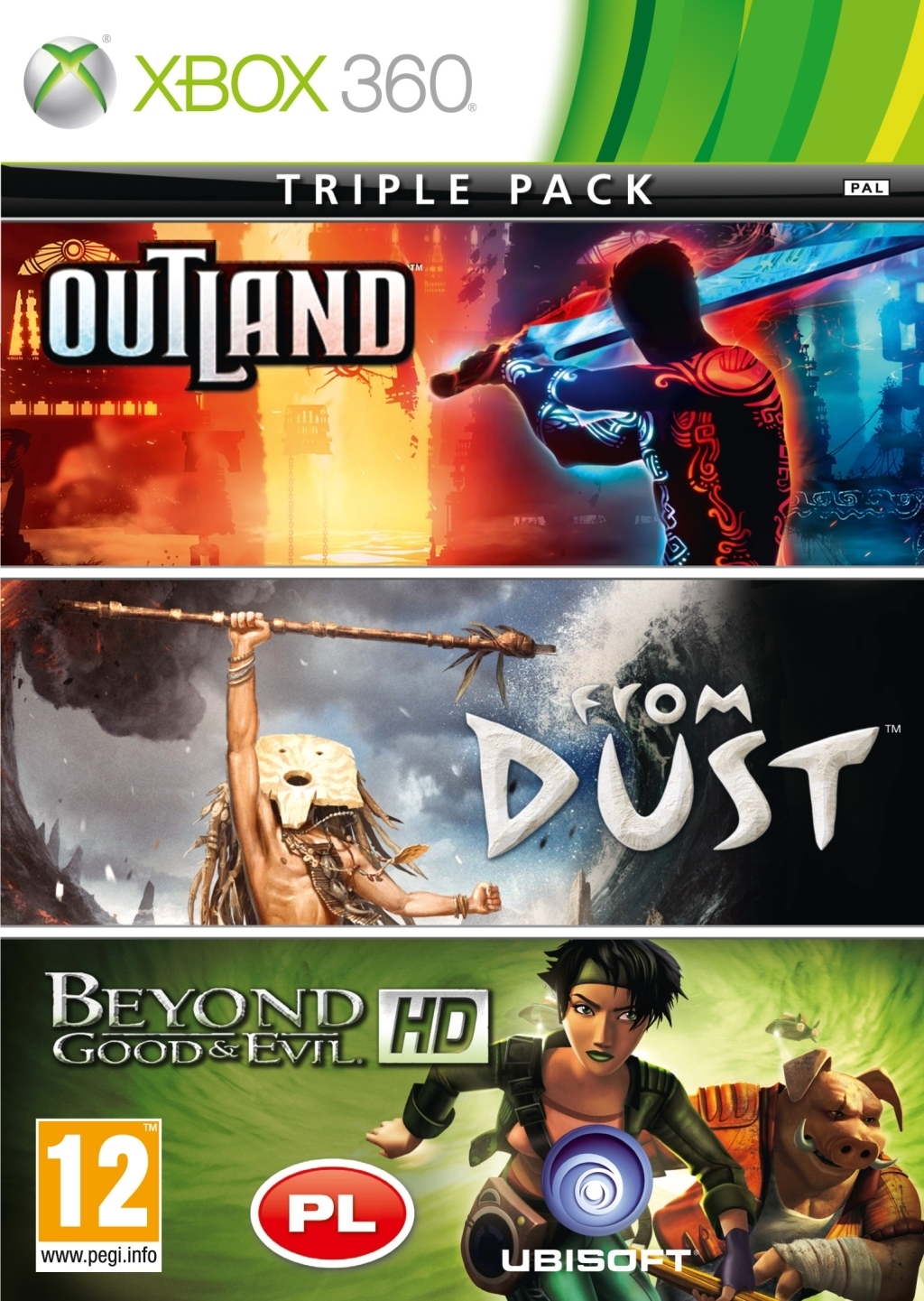 Beyond Good and Evil + From Dust + Outland PL (Xbox 360)