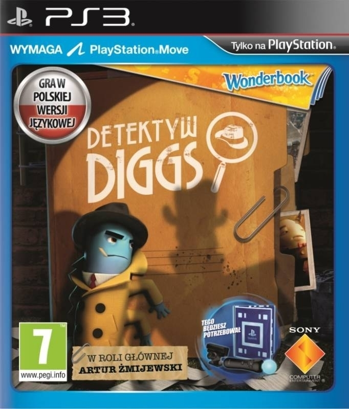 Wonderbook Detektyw Diggs PL  Move (PS3)