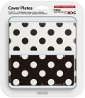 Cover Plate Black White Dots 15 (New 3DS)