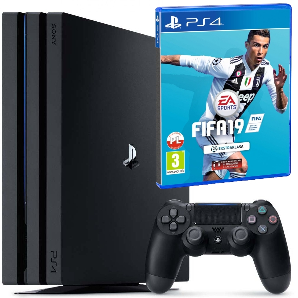 Konsola Playstation PRO 1TB 2 + Fifa 19 (PS4)