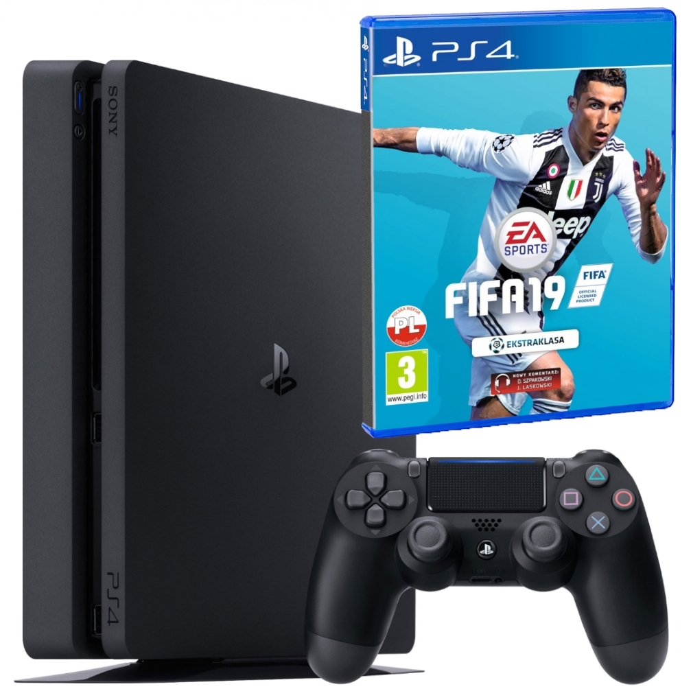 Konsola Playstation 4 Slim 500GB + Fifa 19 (PS4)