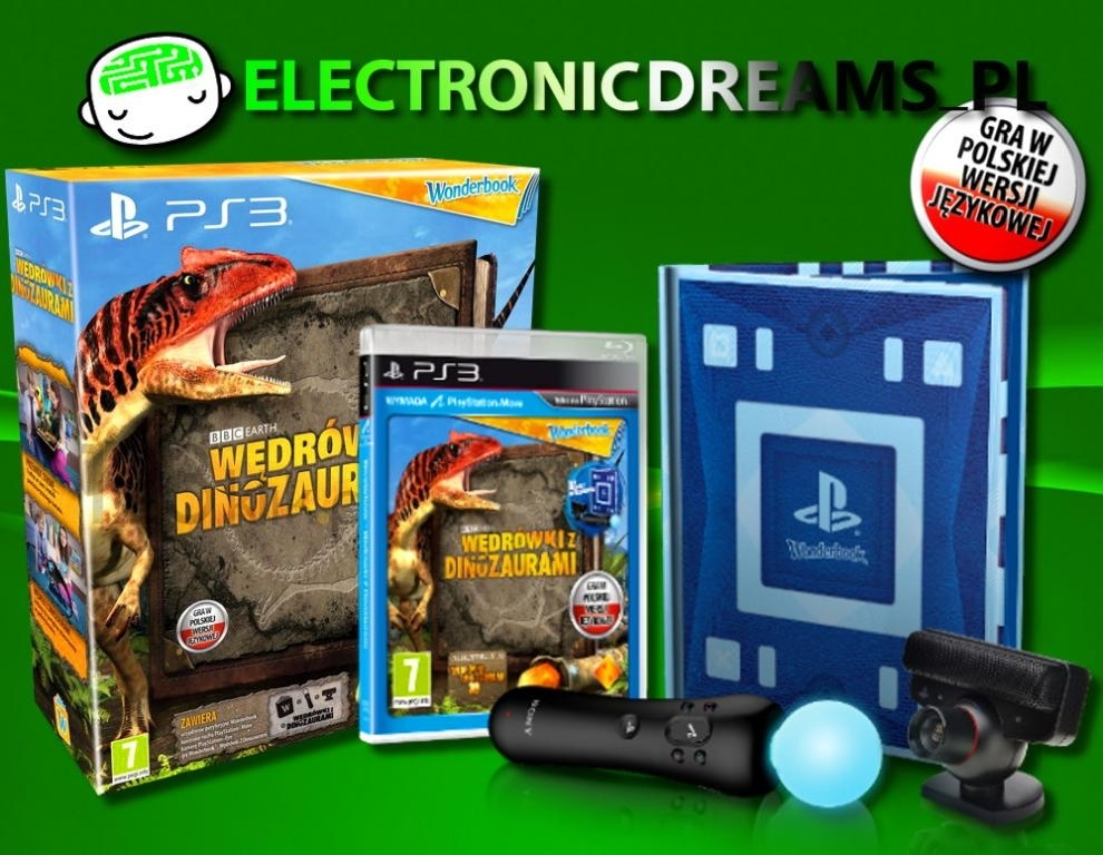Wonderbook: Wędrówki z Dinozaurami + Move + Kamera (PS3)
