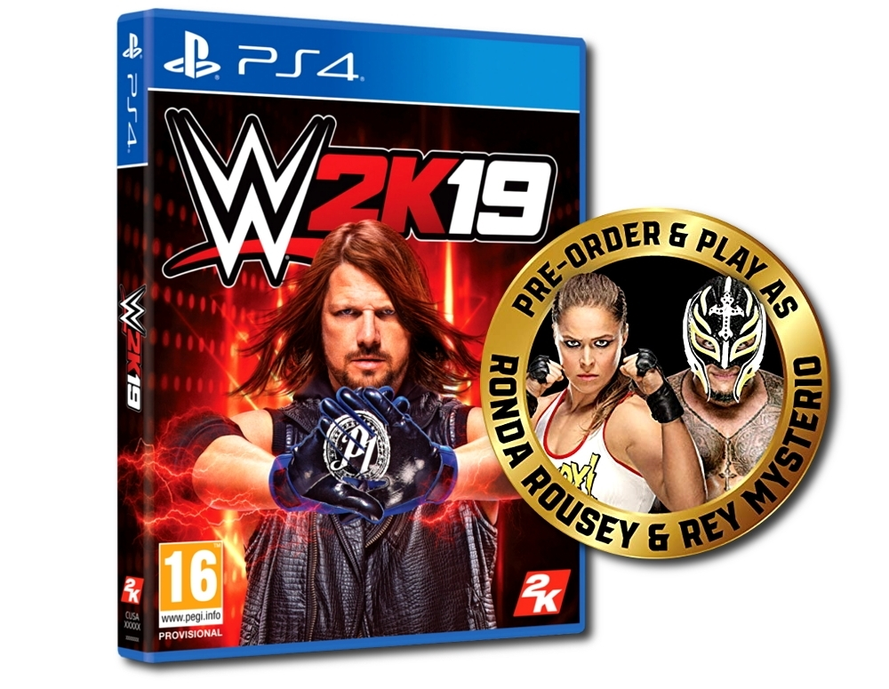 WWE 2K19 + DLC: REY MYSTERIO & RONDA ROUSEY PACK (PS4)