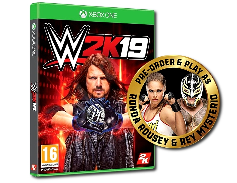 WWE 2K19 + DLC: REY MYSTERIO & RONDA ROUSEY PACK (Xbox One)